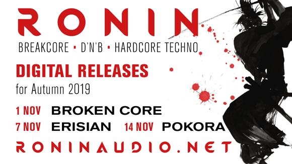 Ronin - digital music release schedule for Autumn 2019